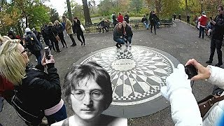 JOHN LENNON'S MEMORIAL: STRAWBERRY FIELDS: CENTRAL PARK
