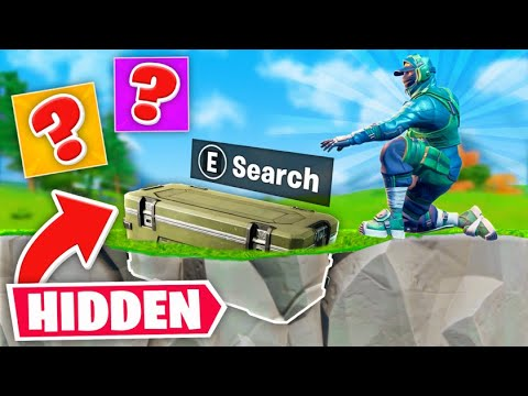 *NEW* HIDDEN Underground Chest Challenge In Fortnite!