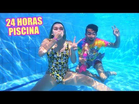 24 HORAS EN LA PISCINA con SOFIA CASTRO mi MOR - Ami Rodriguez