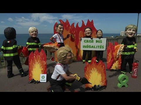 شاهد: مظاهرة -الرؤوس الكبيرة- لمطالبة قادة قمة الدول السبع بالحد من الفقر…  - نشر قبل 6 ساعة