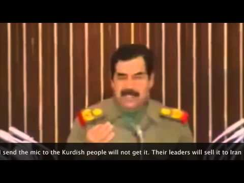 Saddam Hussain about Kurdish leader