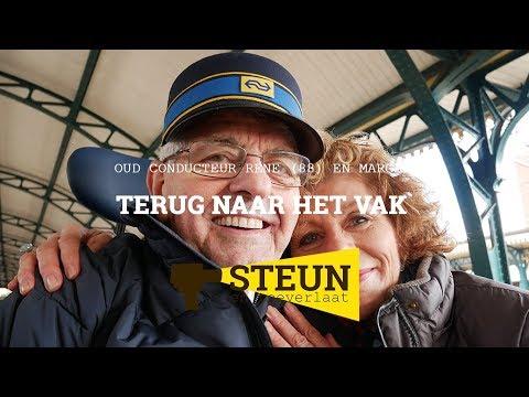 Still uit de video 'Terug naar het vak - Oud-conducteur René (88) en Margaret - STEUN en toeverlaat'