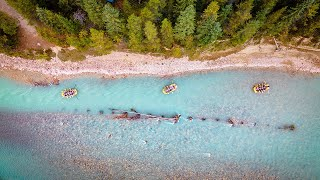 The Kicking Horse River in Golden, BC - Whitewater Rafting Drone Video