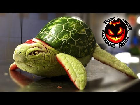 Turtle - Best Watermelon Carving!