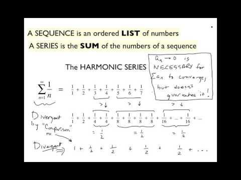 MAT 271 Mon Oct 24: Harmonic Series & Comparison Test