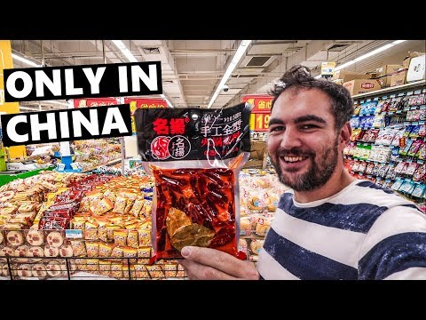 INSIDE A SUPERMARKET IN SHANGHAI, CHINA: Most Surprising Finds! (China Vlog 2019 上海)