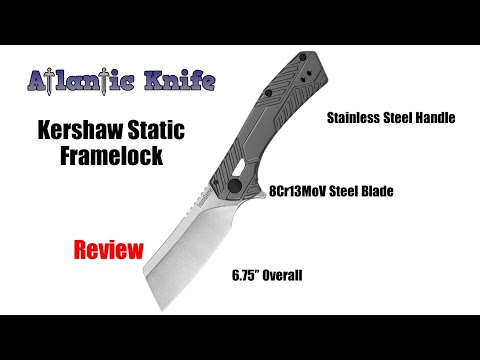 Kershaw Static Framelock Folding Knife Review | Atlantic Knife Reviews 2019