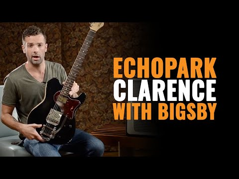 Echopark Guitars: Clarence with Bigsby in Aged Black | CME Gear Demo