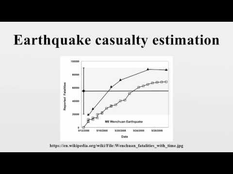 Earthquake casualty estimation
