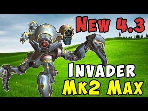 New 4.3 Robot INVADER Mk2 Maxed & Boosters Gameplay - War Robots WR