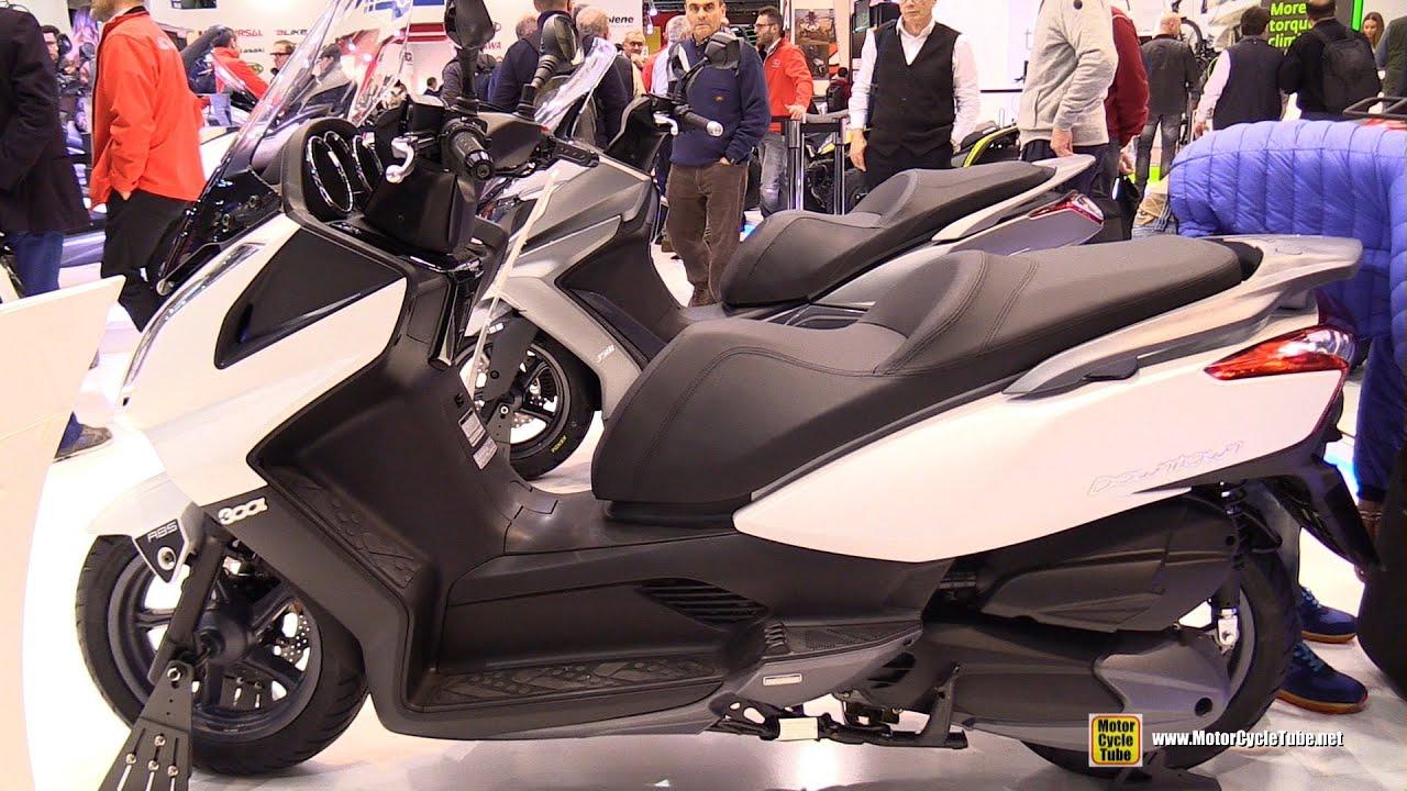 2016 kymco downtown 300i scooter - walkaround - 2015 eicma milan