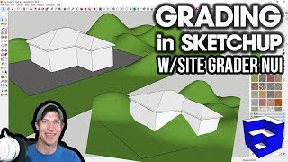 GRADING in SketchUp with Site Grader NUI