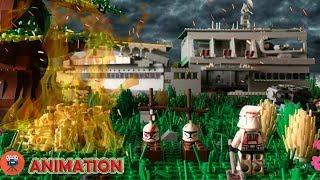 LEGO МУЛЬТФИЛЬМ - БИТВА ЗА БАЗУ КЛОНОВ/BATTLE FOR THE CLONE BASE - LEGO STOP MOTION 0+
