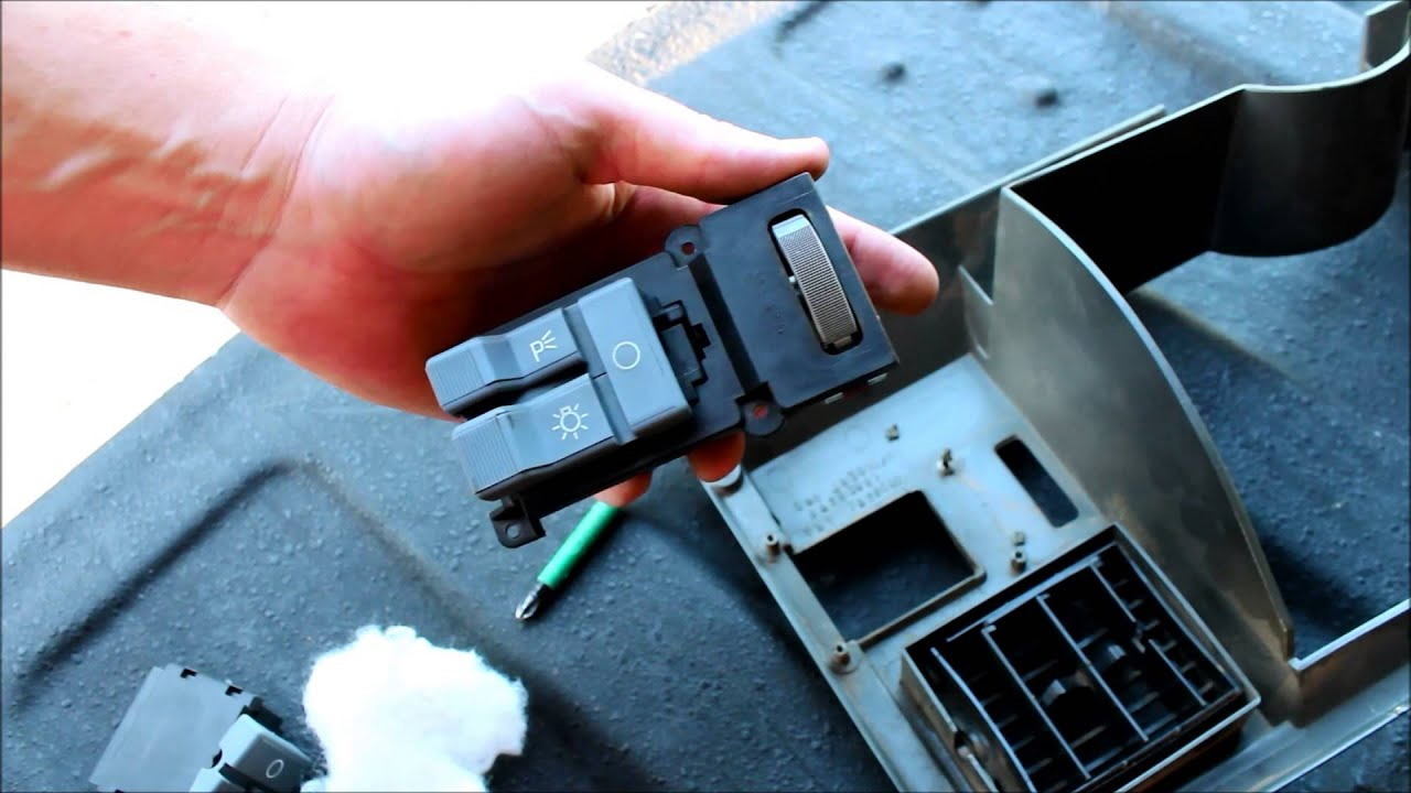 maxresdefault how to replace a headlight switch, chevy and gmc youtube 1994 gmc suburban fuse box diagram at bayanpartner.co