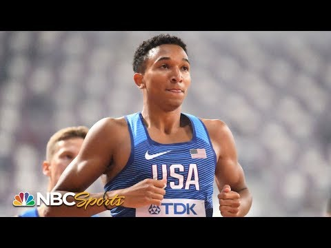 Donavan Brazier wins 800m semifinal at World Track and Field Championships | NBC Sports