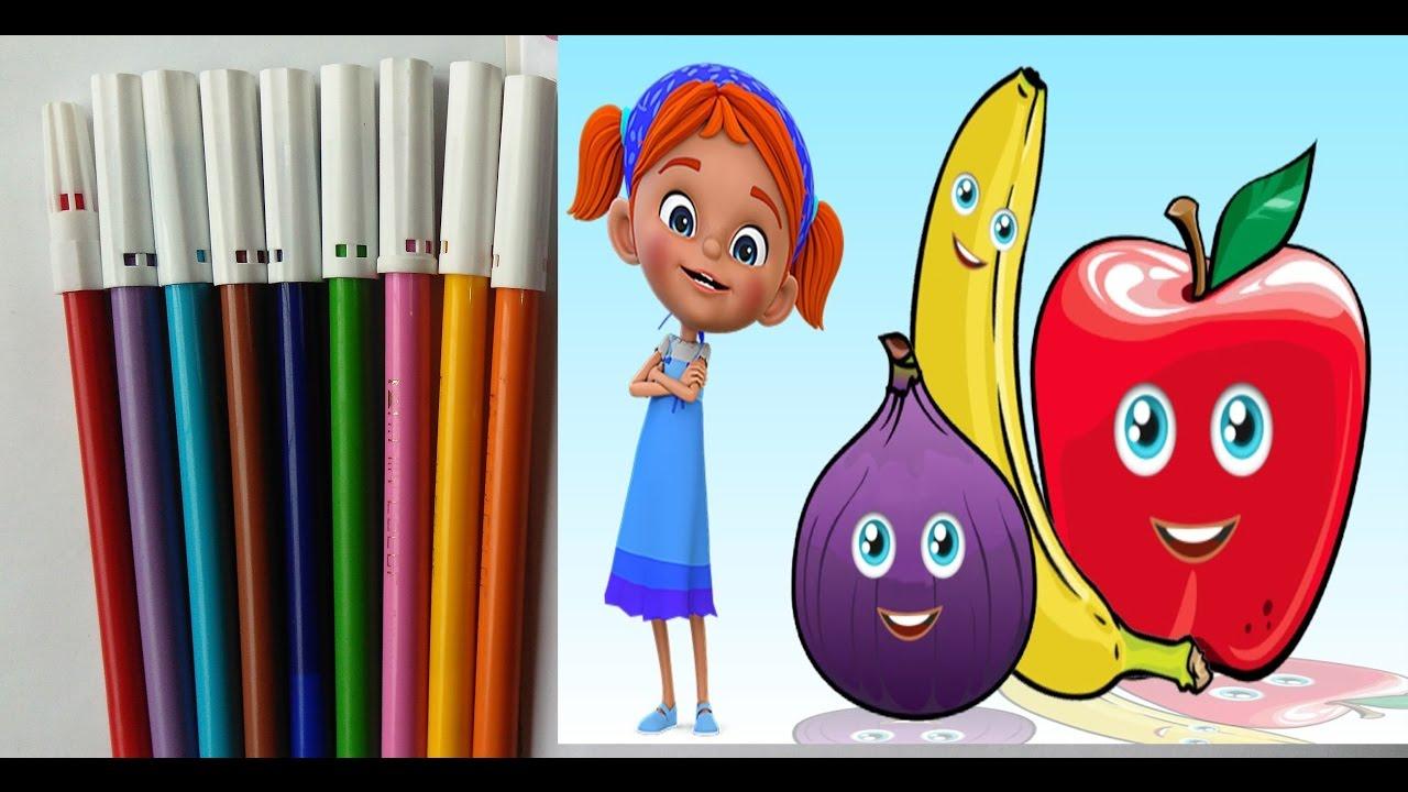 Elifin Dusleri Meyve Sebze Boyama Oyunu Konusan Meyveler Youtube