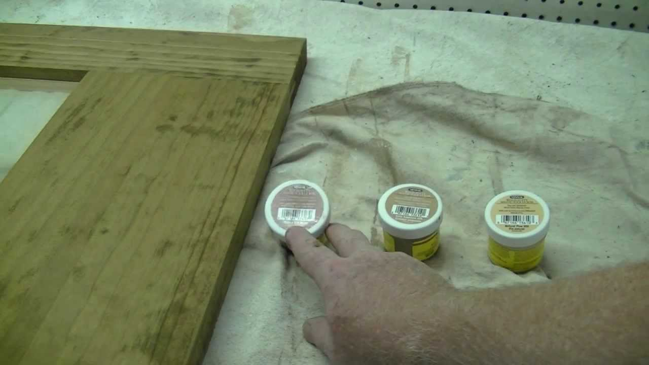 Mixing Wood Stains How To Mix Wood Putty To Match Your Wood Stain Youtube