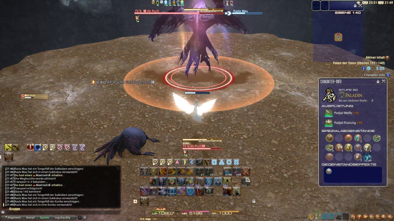 Final Fantasy Xiv Palace Of The Dead Stage 140 Boss Solo Youtube