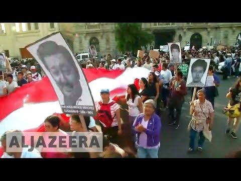 Peru: thousands protest ex-President Fujimori's pardon 🇵🇪