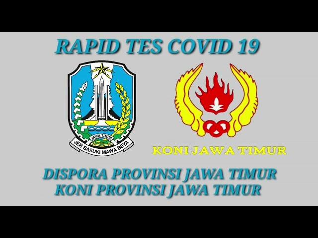 Pelaksanaan Rapid Test Covid-19 Bagi Atlet Puslatda 100/V Jatim