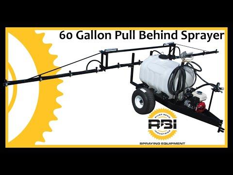 Lawn, Garden, Yard Sprayer - 60 Gallon - Pull Type - River Bend Industries