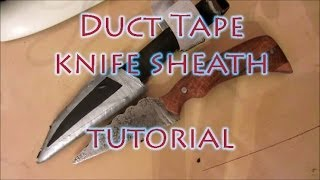 How To Make A Duct Tape Knife Sheath