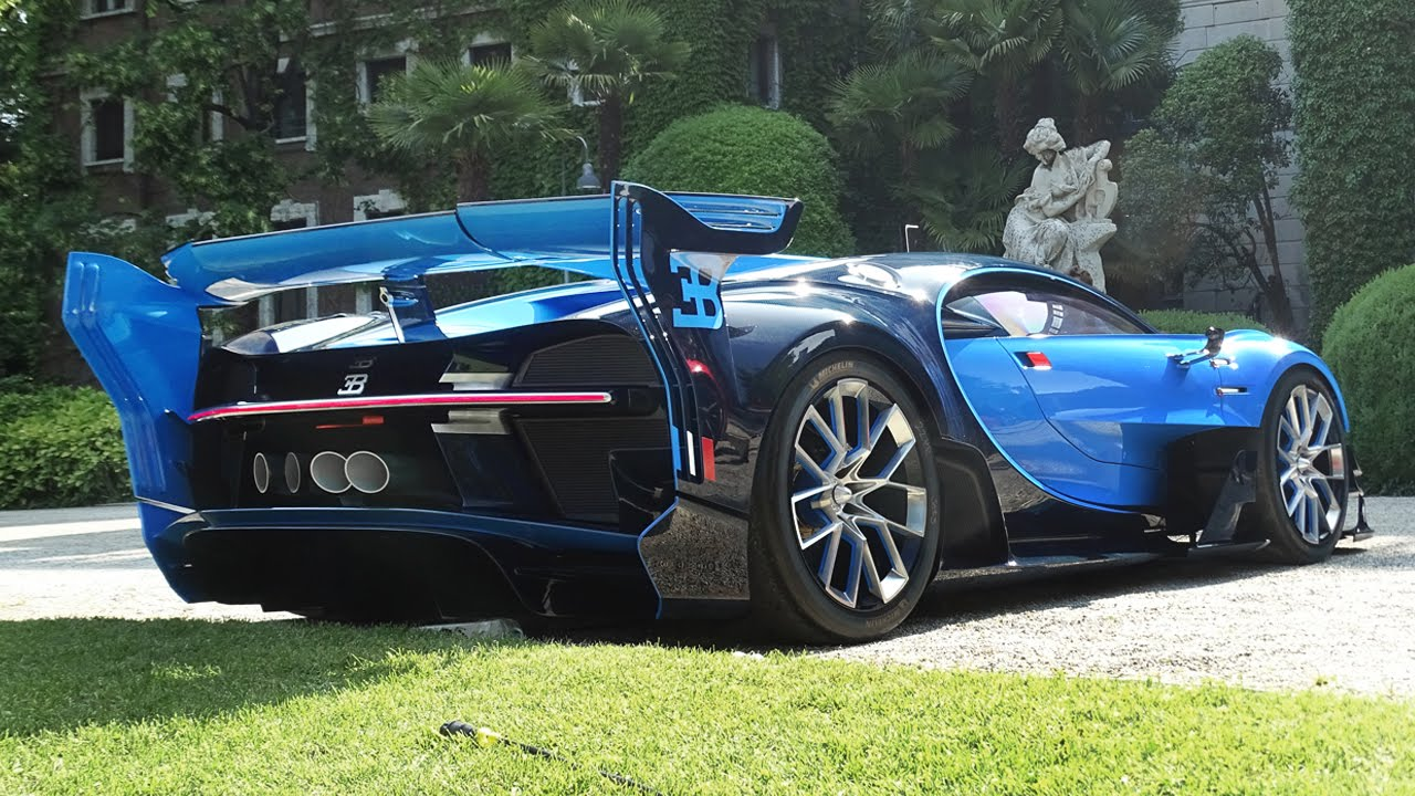 Bugatti Vision Gt Start Up Loud Revs Quad Turbo W Engine Sound Youtube