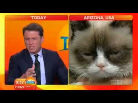 TODAY SHOW-  Karl Meets Grumpy Cat Interview