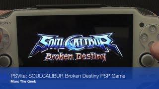 PSVita: SOULCALIBUR Broken Destiny PSP Game