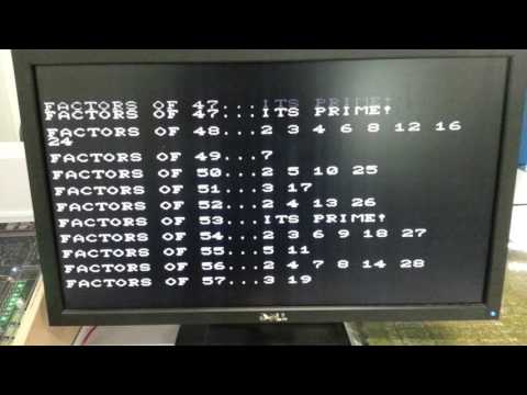 Factoring in BASIC on a 6502
