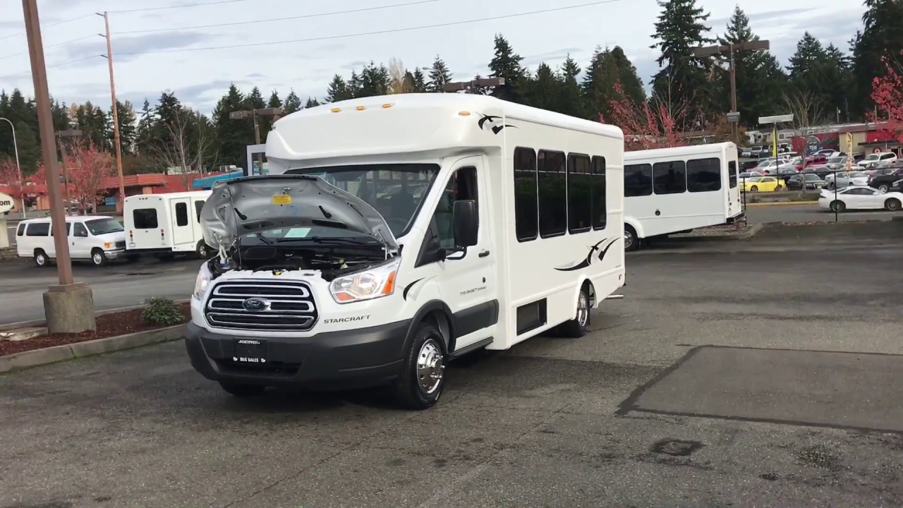 medium resolution of 2017 ford starlite transit style shuttle bus s26151