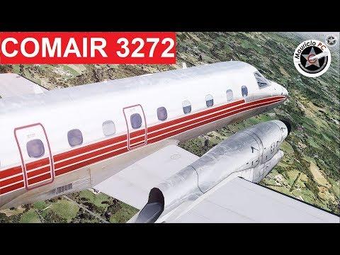 Por media pulgada - Vuelo del Embraer 120 Brasilia de Comair (Reconstrucción)