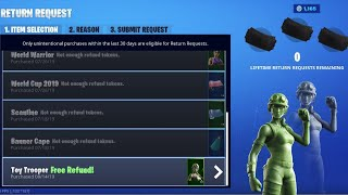 How to refund toy soldier skins in fortnite
