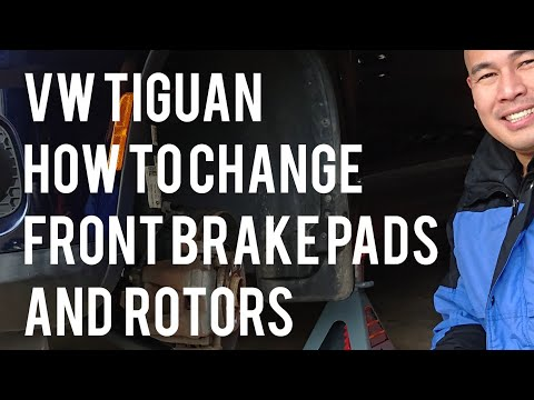 VW/Volkswagen Tiguan How to Change/Replace Left Front Brake Pads Rotors Complete DIY Instructions