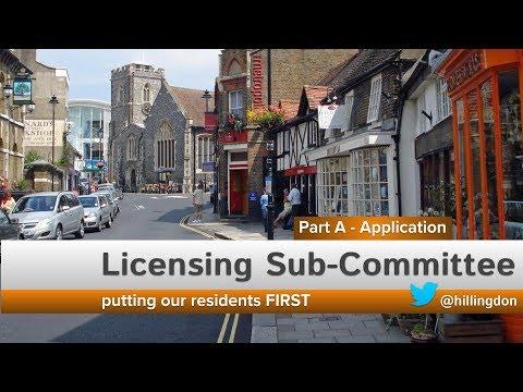 Licensing Sub Committee Home Bar Restaurant Ickenham 11am 23