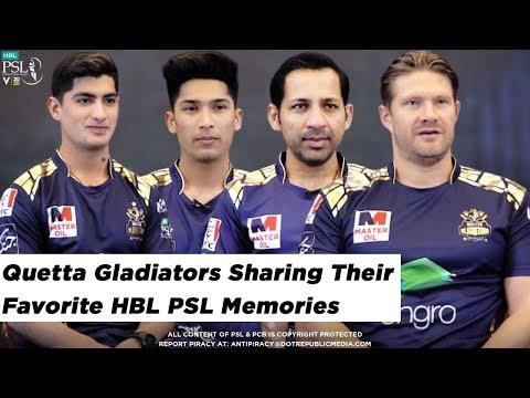Quetta Gladiators sharing their Favorite HBL PSL Memories   HBL PSL 2020