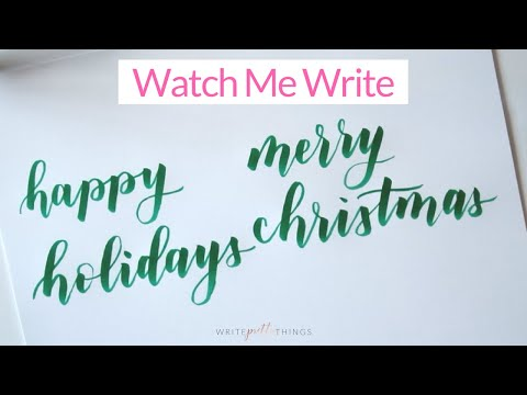 How To Write Happy Holidays in Calligraphy | How To Write Merry Christmas In Calligraphy