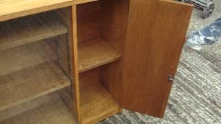 Retro Oak Glazed Bookcase