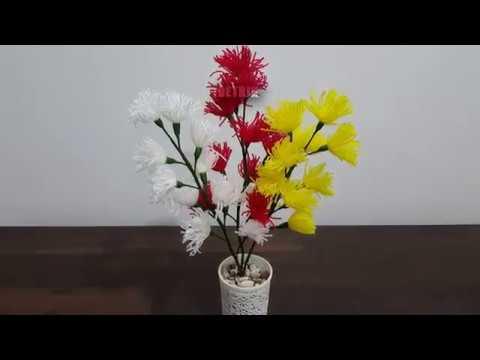 Kreasi Bunga Dari Benang Wol Ide Kreatif Trik Idetrik Youtube
