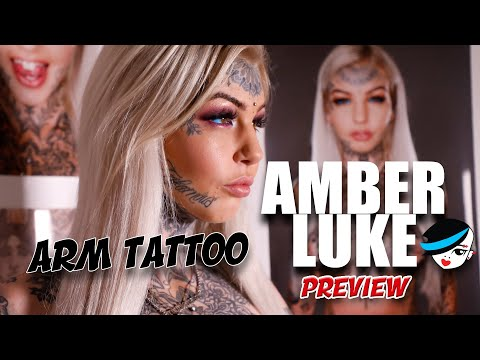 Amber Luke Gets Her Arm Tattooed ... PREVIEW
