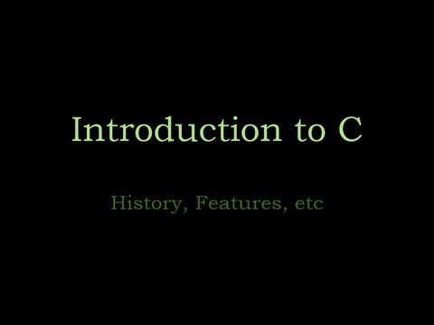 C Programming 04 - Introduction to C programming language