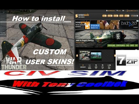War Thunder: Custom User Skins From Nexusmods (How To Download, Unzip And Install)