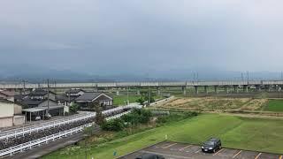 北陸新幹線2019 滑川での離合シーン