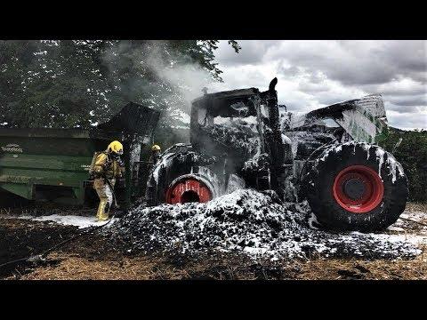 TRACTOR FIRE AND FAIL 2019 COMPILATION,  Tracteur en feu