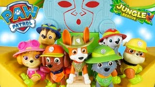 NEW PUP! PAW PATROL MONKEY TEMPLE JUNGLE RESCUE TRACKER COMMAND CENTER PLAYSET CHASE MARSHALL SKYE