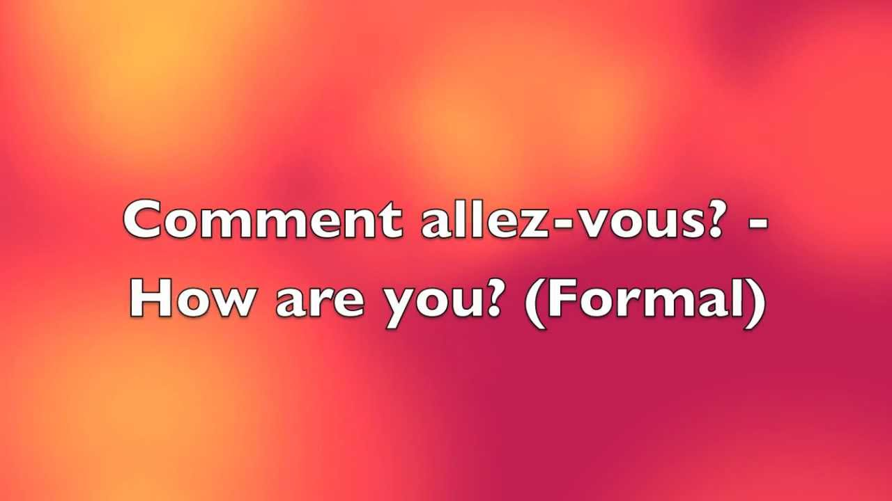 Basic french greetings youtube basic french greetings kristyandbryce Image collections