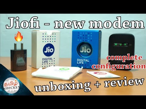 Jiofi modem unboxing + review + complete configuration in tamil