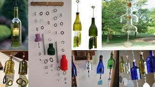 DIY-Art Attack | wind chime using hollow tubes and recycle glass bottle.