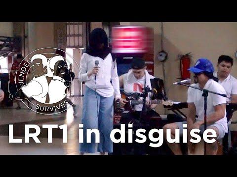 Jen Survives LRT1 in disguise | Jennylyn Mercado & Dennis Trillo
