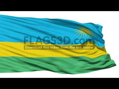 Waving national flag of Rwanda